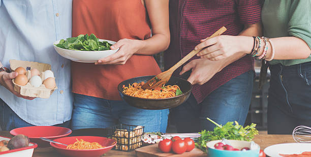 Friends kitchen cooking dining togetherness concept picture id610784290?b=1&k=6&m=610784290&s=612x612&w=0&h=99mpocjuvh1nct tsbroolxrp 9ezd4z7svktyhtjeu=