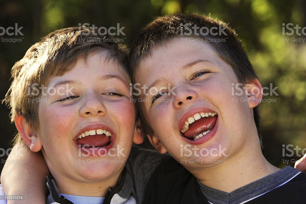 Friends Laughing four royalty-free stock photo