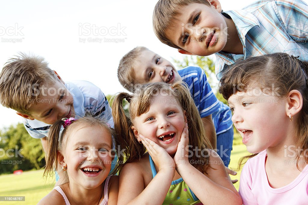 Friends laughing royalty-free stock photo