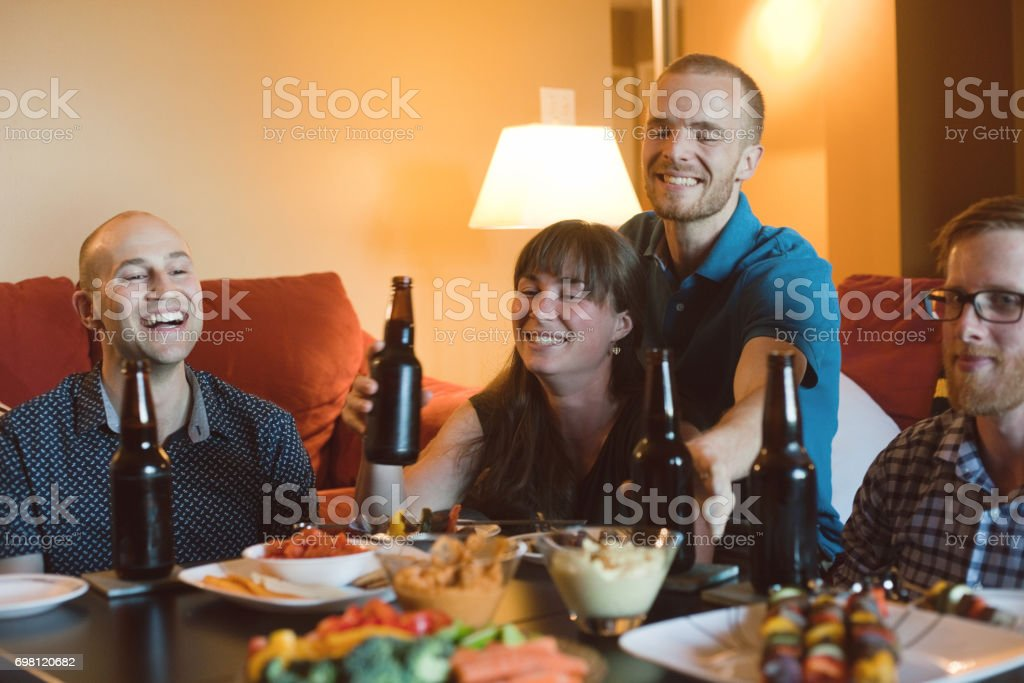Friends Laughing Together stock photo