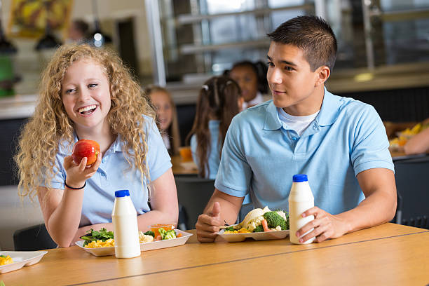 Friends laughing together while eating in school cafeteria picture id499449297?b=1&k=6&m=499449297&s=612x612&w=0&h=vvq1beofhma67v4xsawjafjw rxpipr3i0q9j4c5oxc=