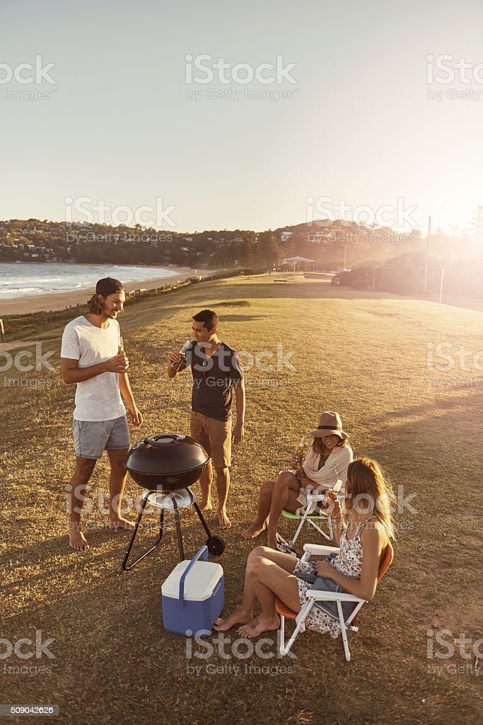 Friends make the good times better stock photo