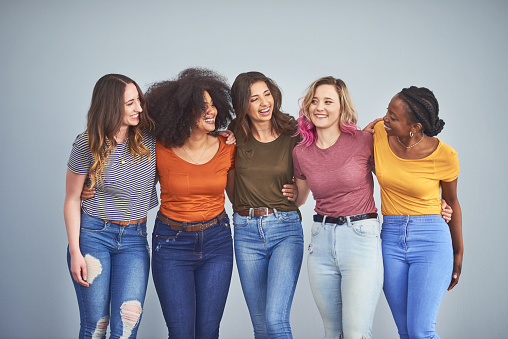 istock Friends make the world a happier place 1137700343