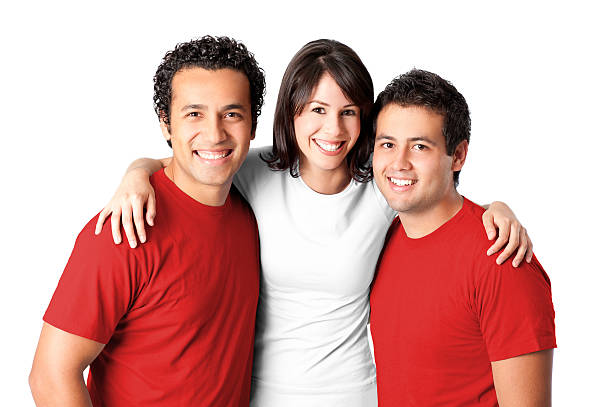 friends making a peruvian flag - peruvian ethnicity stock pictures, royalty-free photos & images
