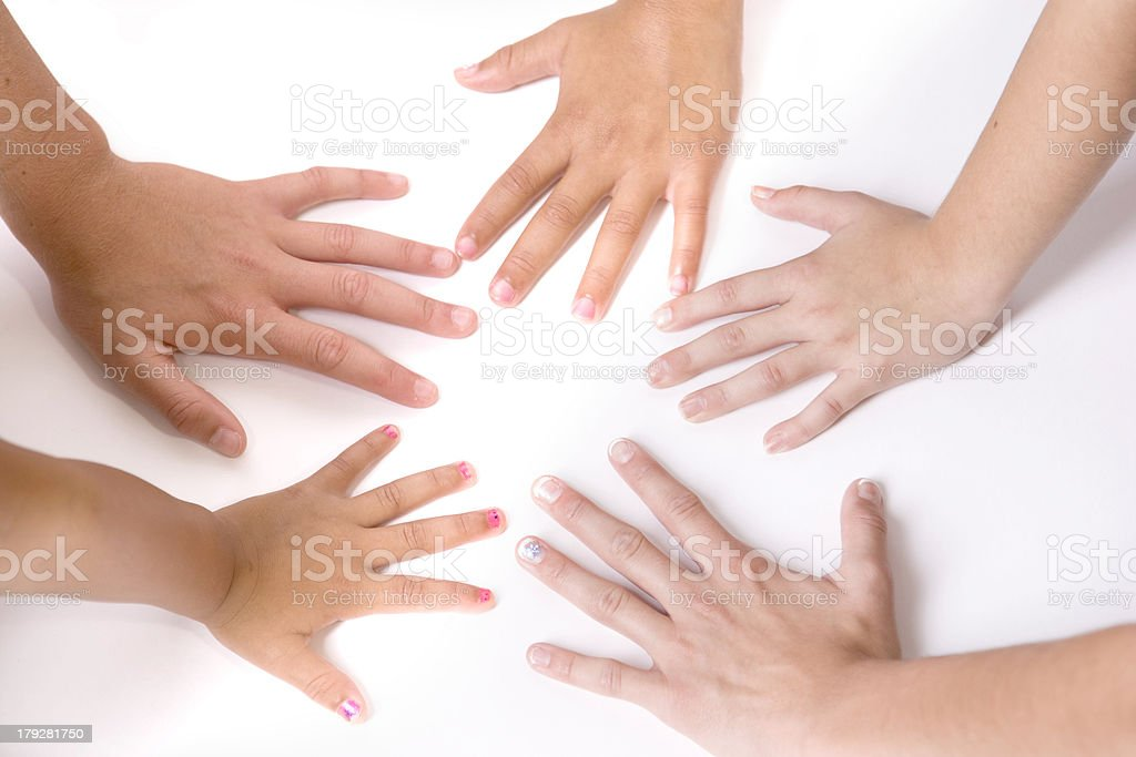 Friends - Multicultural Hands royalty-free stock photo