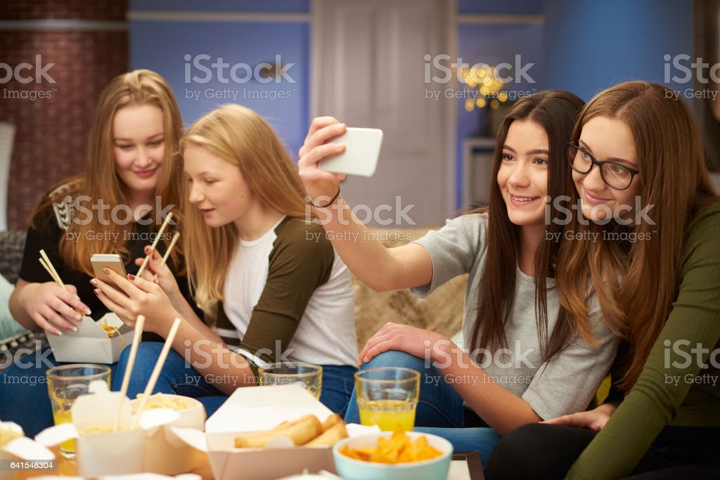 friend's night in stock photo