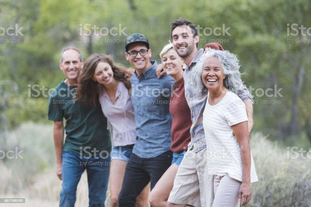 Friends of All Ages stock photo