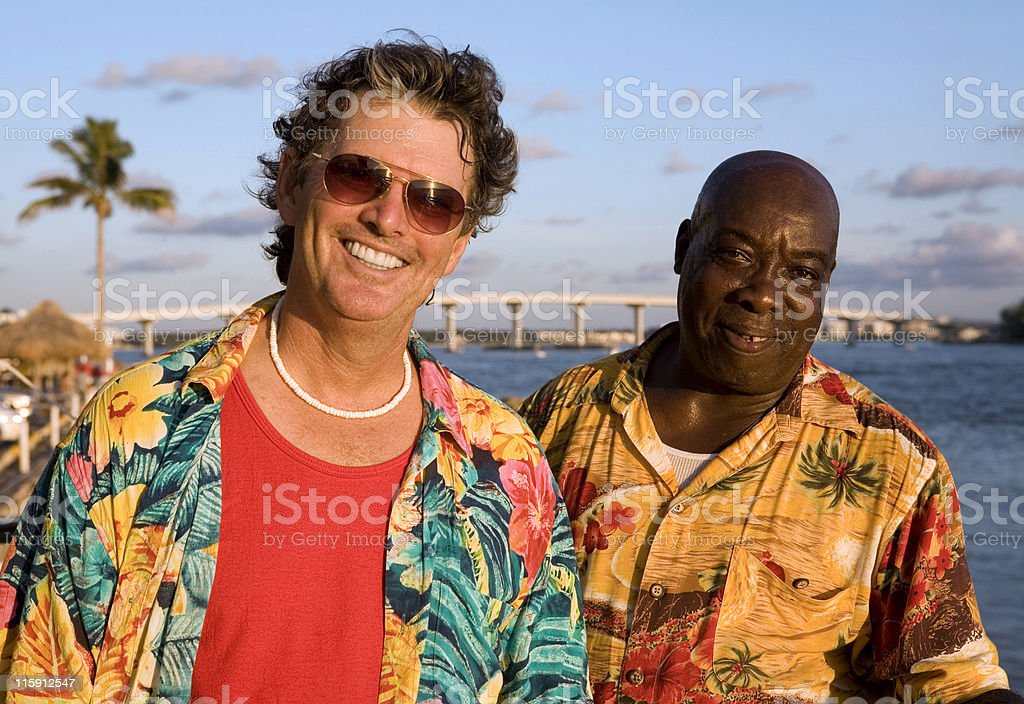 Friends On Tropical Vacation royalty-free stock photo