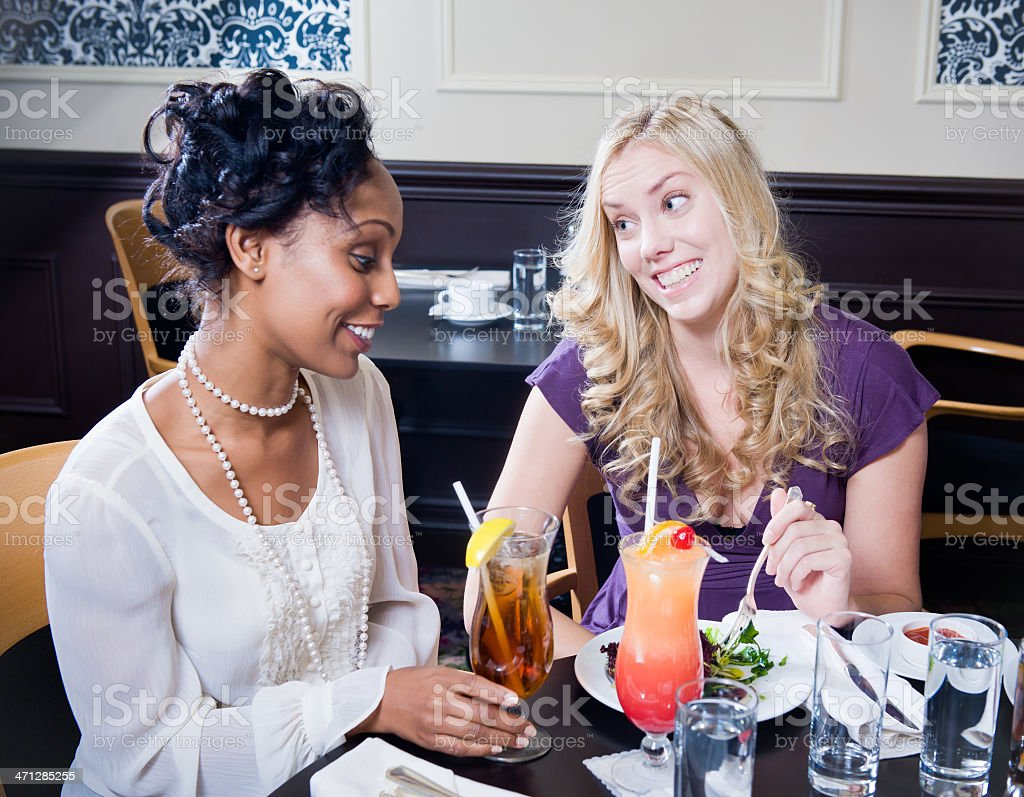 Friends out for Dinner royalty-free stock photo