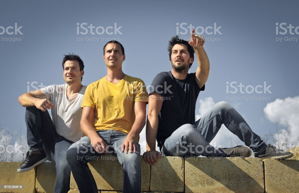 Friends outdoor royalty-free stock photo