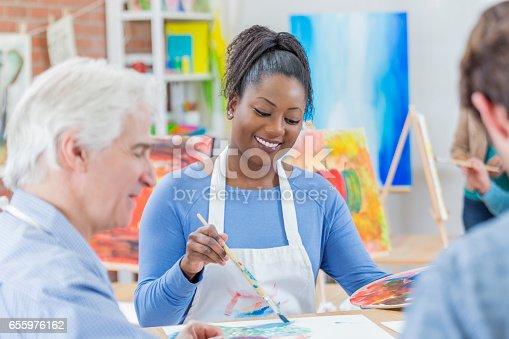 658645980istockphoto Friends paint together in art studio 655976162