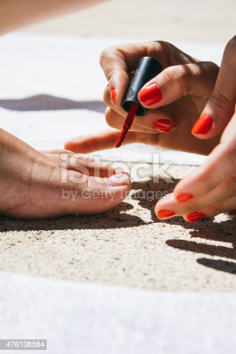 istock Friends painting her nails 476108584