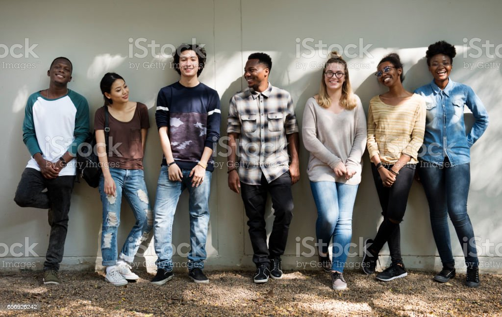 Friends People Group Teamwork Diversity stock photo