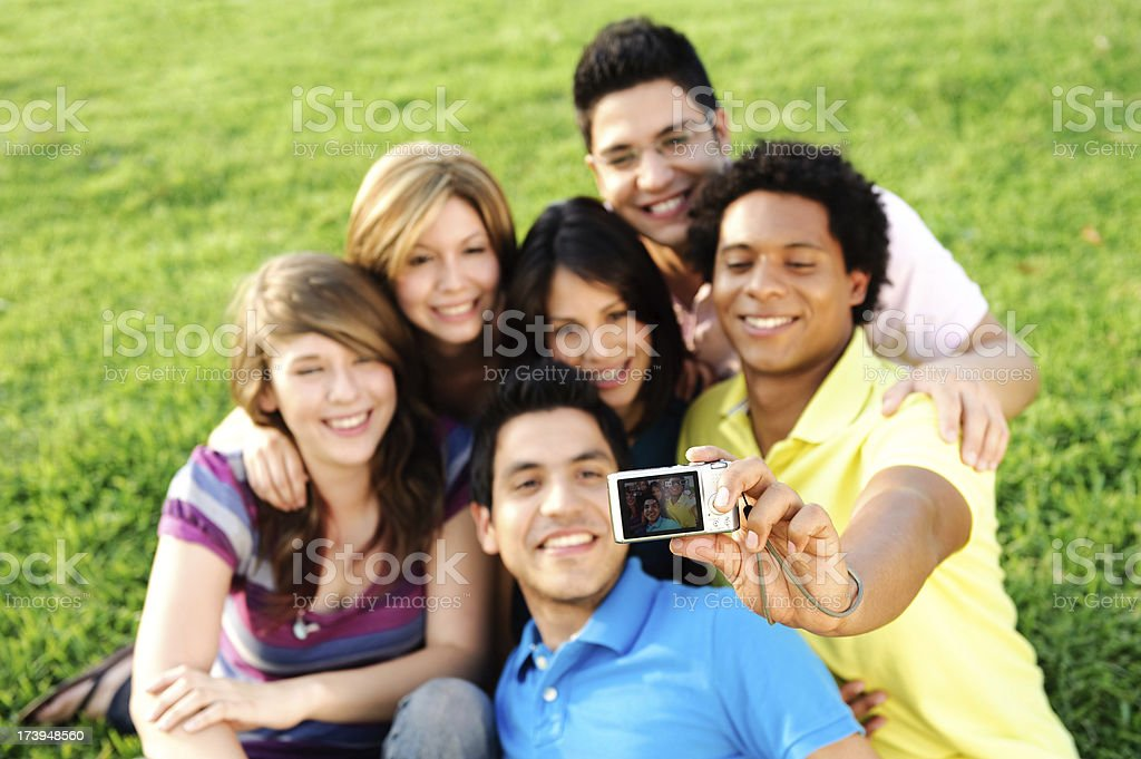 Friends picture royalty-free stock photo