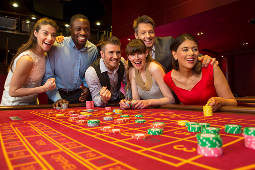 istock Friends Playing Roulette 496306177