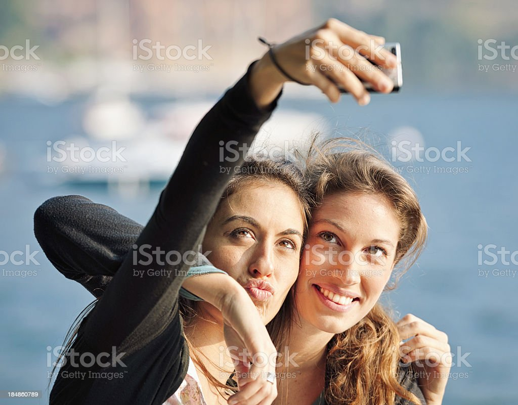 Friends posing for a selfie royalty-free stock photo