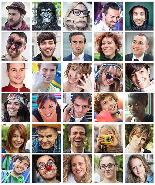 friends profiles on social network - profile view stock photos and pictures