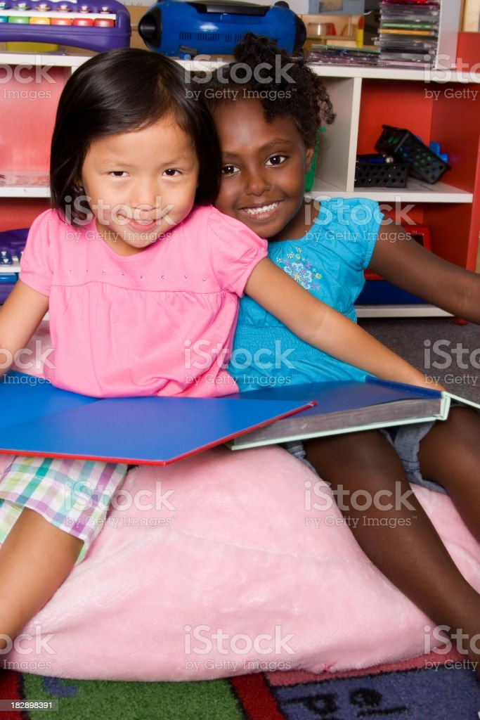 Friends Reading Together royalty-free stock photo