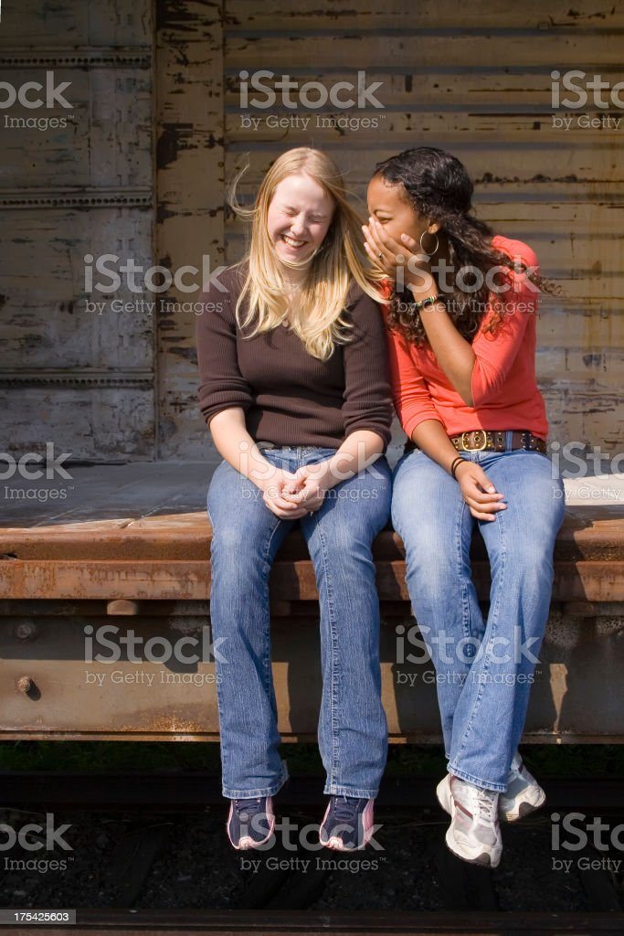 Friends, Secrets and Giggles royalty-free stock photo
