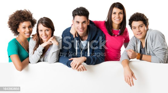 istock Friends showing placard 164380855