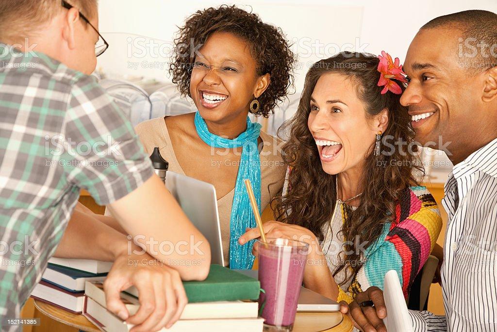 Friends Socializing royalty-free stock photo