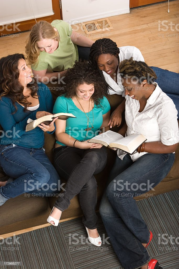 Friends studying royalty-free stock photo
