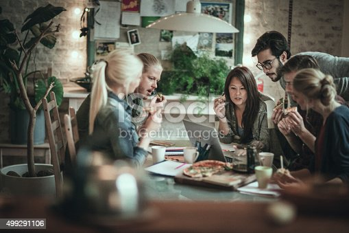 istock Friends studying together 499291106