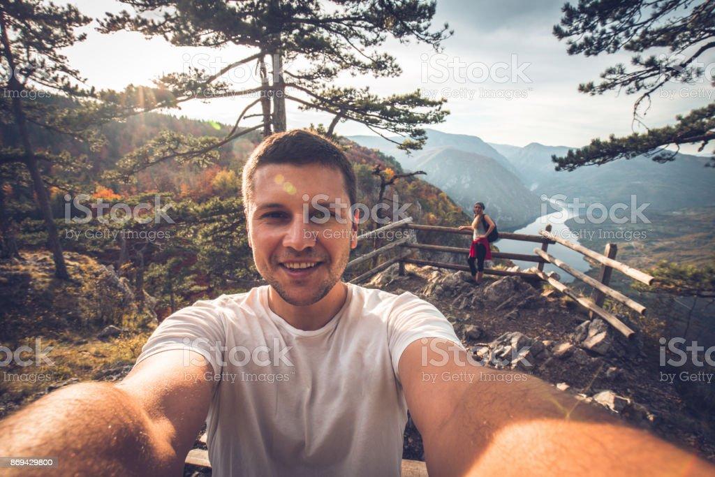 Friends taking a selfie stock photo