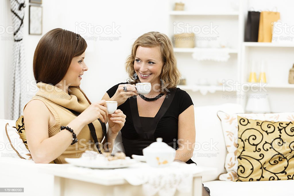 Friends talking to each other royalty-free stock photo