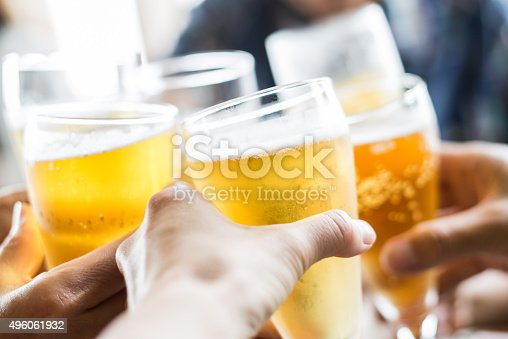 istock Friends toasting with beer 496061932