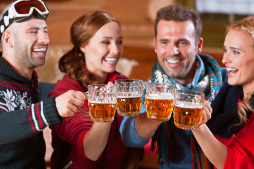 Friends Toasting With Beer Stock Photo - Download Image Now