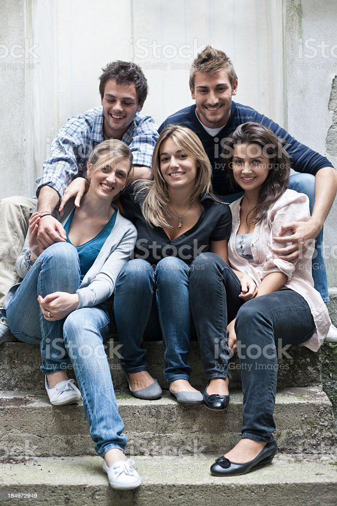 Friends Together, Leisure Group Portrait royalty-free stock photo