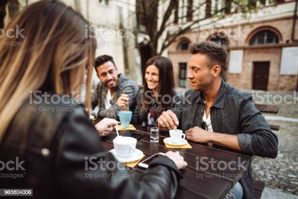 Friends Togetherness At The Cafe Take A Break Stock Photo - Download Image Now