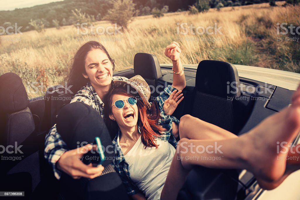 Friends travelling royalty-free stock photo
