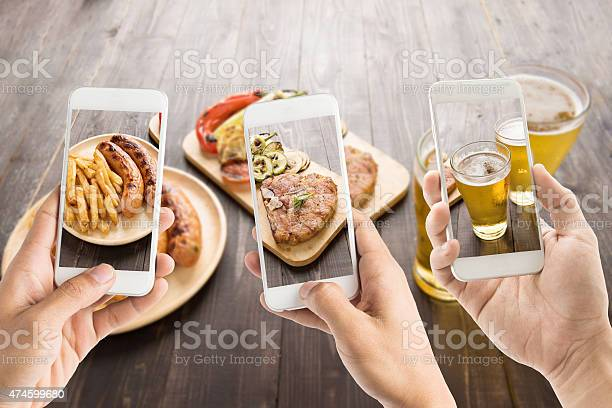 Friends using smartphones to take photos of food picture id474599680?b=1&k=6&m=474599680&s=612x612&h=8r1uqnaud0bjt4z8g3mccffbz zn7ugwbznetcxmdys=