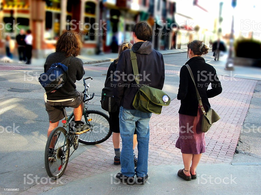 Friends waiting royalty-free stock photo