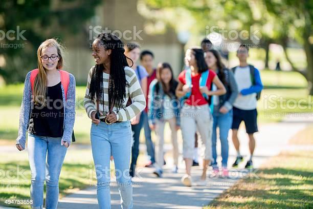Friends walking to class picture id494753658?b=1&k=6&m=494753658&s=612x612&h=50l8aoa0ldltlyqvikoxis1hfnzqexo2evx as yewo=