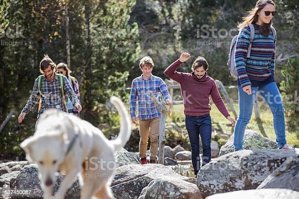 Friends with dog walking on rocks picture id537450087?b=1&k=6&m=537450087&s=612x612&h=ganetmpk9bmk4immv vsshrx1o73m ew5pkggkicdxs=