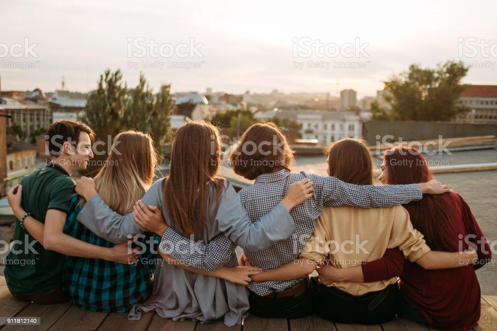 Freunde Jugend Einheit Freizeit Unterstützung der Vielfalt – Foto