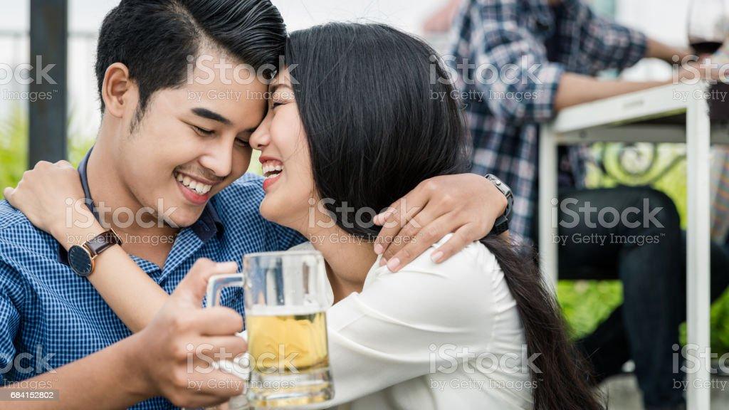 Vänskap och Happy Party royaltyfri bildbanksbilder