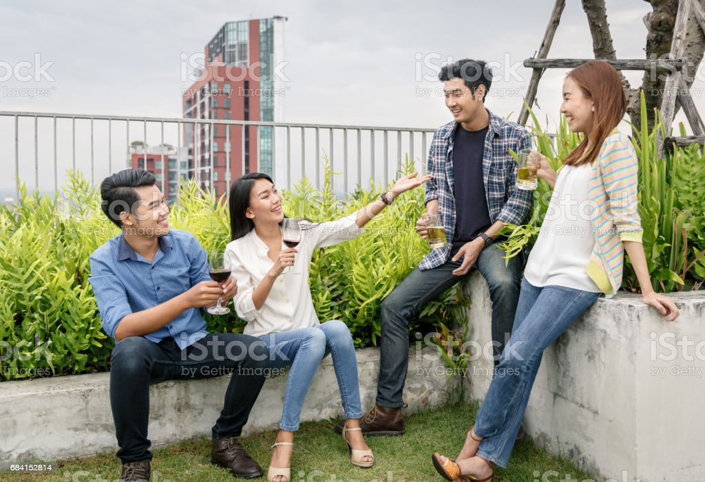 Friendship And Happy Party foto stock royalty-free