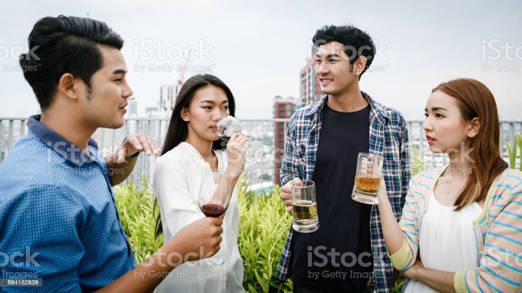 Friendship And Happy Party zbiór zdjęć royalty-free