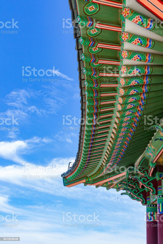 Friendship Bell Roof stock photo