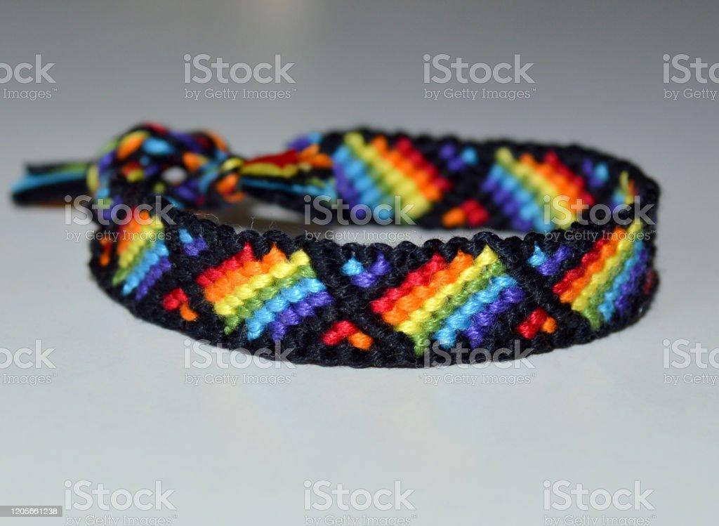 Woven Bracelet String Bracelet Friendship Bracelet Retro Bright Rainbow Pattern Bracelet