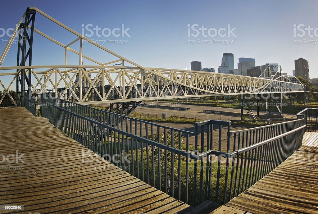 Friendship Bridge - Minneapolis, Minnesota royalty-free stock photo