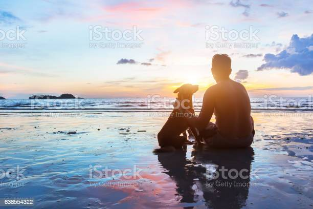 Friendship concept man and dog sitting together on the beach picture id638554322?b=1&k=6&m=638554322&s=612x612&h=mkcb rmfcsnrm3hvly54pqf7d6ic97tamxsq41k2b3o=