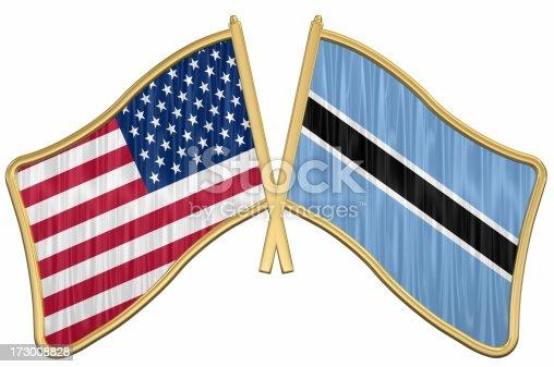 istock US Friendship Flag Pin - Botswana 173008828