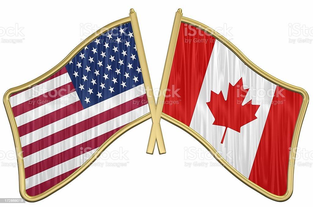 US Friendship Flag Pin - Canada royalty-free stock photo