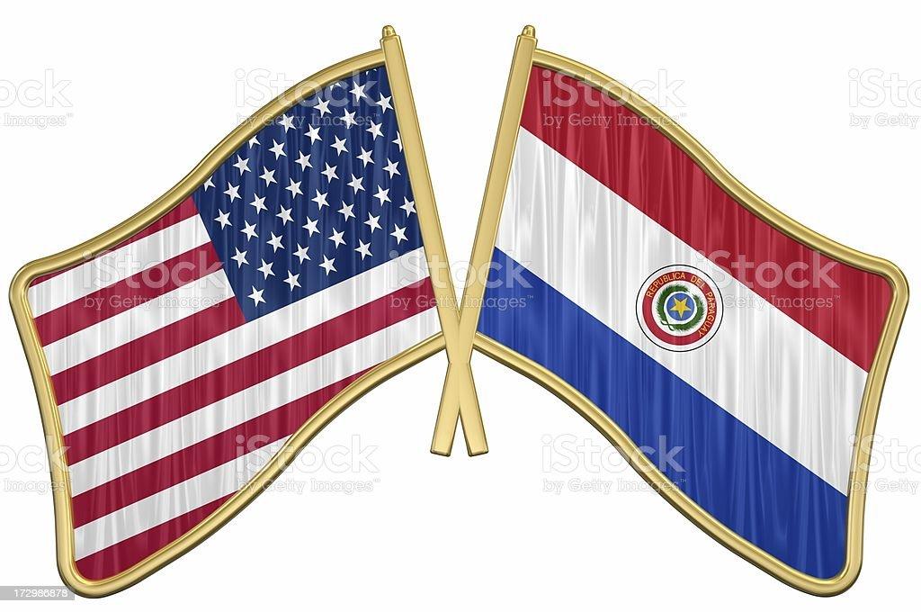 Nosotros amistad bandera contactos-Paraguay - foto de stock