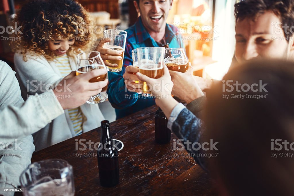 Friendship is always a reason to celebrate stock photo